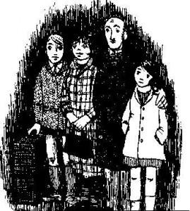 Ilustración cuando Hitler robó el conejo rosa