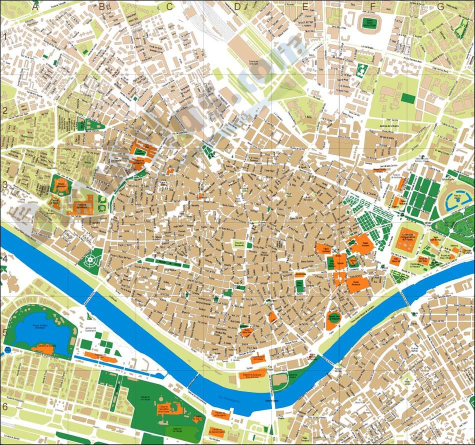 Mapa Callejero De Sevilla.Callejero De Sevilla Centro Alqueria Blog Alumn S Del