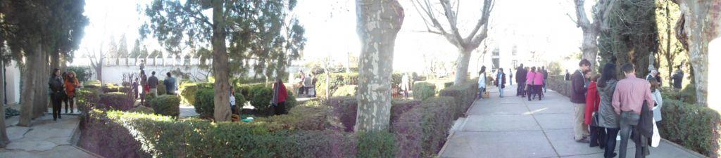 Museo milenario en el jardín de Alquería