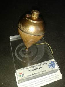 Peonza de Oro en el VIII premio Espiral Edublogs para Alquería
