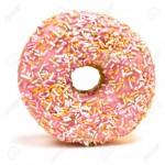 6966551-Rosa-donut-Iced-cubiertas-de-fragmentos-aislados-sobre-fondo-blanco--Foto-de-archivo