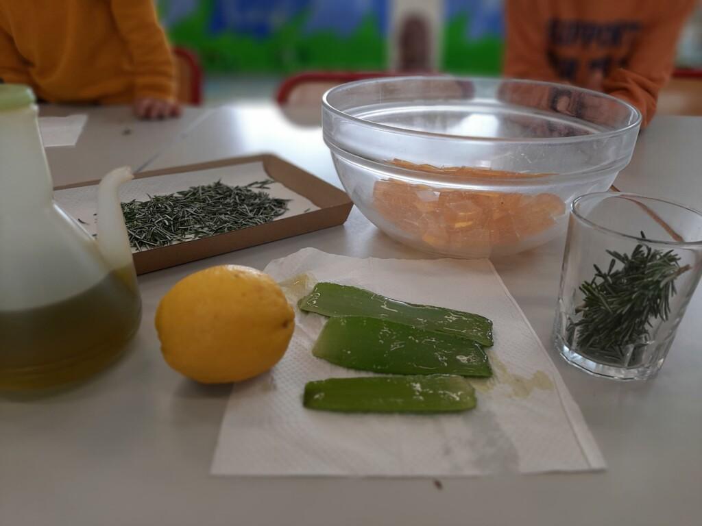 Los ingredientes principales (falta la miel)