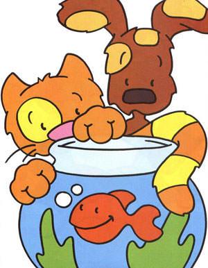 Dibujos Infantiles Animales Gato Perro Pez P1 Blog De