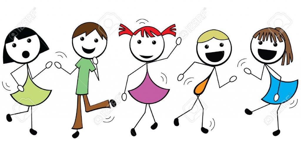 14503188-los-niños-de-dibujos-animados-palo-bailando